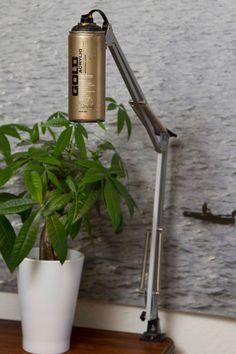Beautiful SprayPaint Desk Lamps  #DIY #Handmade #Recycled         Recycle your spraypaint! Tall Spray Paint Swivel Arm Architect Lamps on Etsy....