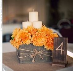 Creative Table Number Ideas – Rustic Charm