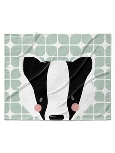 Badger Velveteen Blanket by Kavka Designs at Gilt