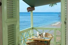 Barbados beach house balcony…lovely colours…Wouldn't you just love to ha… - All About Balcony Cottages By The Sea, Beach Cottages, Outdoor Spaces, Outdoor Living, Barbados Beaches, Dream Beach Houses, House By The Sea, Window View, Side Window