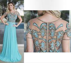 vestido de festa tiffany