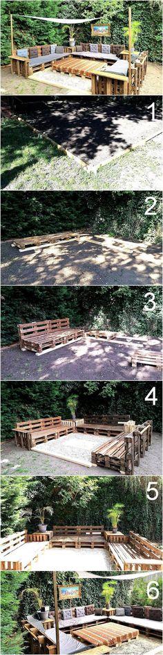 wood pallet terrace ideas 11