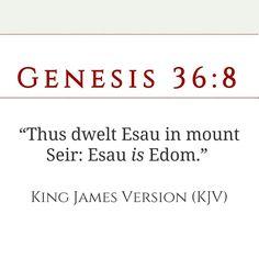 Esau, edom, edomites, idumaea  is the same people the so called white man