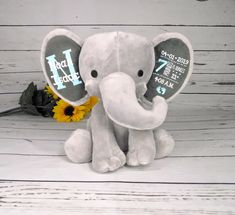 """/""""LITTLE STAR/""""  8 Baby elephants New baby//Birthday see postal discount"""