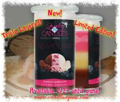 "A guilt-free way to indulge in the decadence– without the calories.  ~NEW~ Layered ""NEAPOLITAN"" Candle with Jewelry Inside!  A perfect blend of your favorite scents *Release Date: 02/27 at 7pm EST.  ORDER HERE: WWW.CANDLESNGEMS.COM   First - Strawberry   Second - Vanilla    Third - Chocolate"
