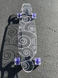 Swirl Ghost Board – Ghost Long Board Coral, Turquoise, Orange, Yellow, Big Boys, Purple, Blue, Skate, Green