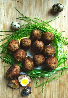 Mini Scotch eggs #Easter #Brunch