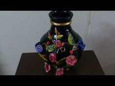 Pot painting tutorial. How to paint a pot and decorate beautifully. - YouTube