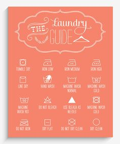 Another great find on #zulily! Lucy Darling Orange Laundry Guide Wall Art by Lucy Darling #zulilyfinds