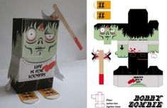 zombie paper crafts print and cut Free Print and Cut PDF