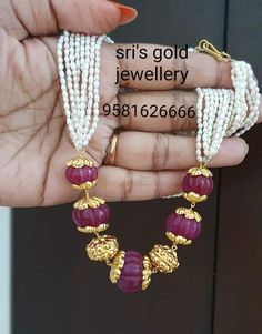 Indian Jewelry Sets, Silver Jewellery Online, Fancy Jewellery, Gold Jewellery Design, Bead Jewellery, Beaded Jewelry, Jewelry Design Earrings, Gems Jewelry, Jewelery
