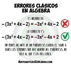 Errores clásicos en álgebra: El menos delante del paréntesis Simple Math, Basic Math, Math For Kids, Fun Math, Math Helper, Ninth Grade, Seventh Grade, Middle School Literacy, 8th Grade Science