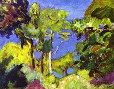 Landscape of Cote d Azur - Pierre Bonnard