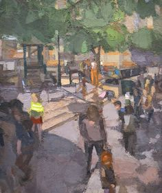 John Dubrow, Playground, 2012-15. Oil on linen, 72 x 60 in. Courtesy of the Artist and Lori Bookstein Fine Art