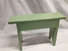 """Wooden Step Stool Green 18""""x 12"""""""
