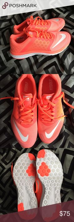 NEW!Nike FS Lite Run 3 New, only tried on, women's size 9.5 Nike FS Lite Run 3. They are a neon orange, very bright! These are AWESOME shoes! New without box. I bought them and just have never worn them. I have tooooo many Nikes! Nike Shoes Athletic Shoes