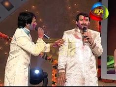 Holi Celebration - Manoj Tiwari & Dinesh Lal Dancing With Bhojpuri Film ...
