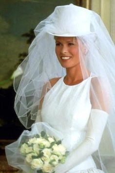 Thomessen as Bridal Gown Model - The Parent Trap Wedding Top Hat, Top Wedding Dresses, Wedding Veils, Cute Wedding Ideas, Wedding Trends, Wedding Inspiration, Bridal Tops, Older Bride, Parent Trap