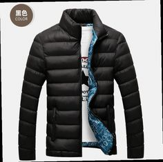 44.59$  Watch now - http://alibsu.worldwells.pw/go.php?t=32700015053 - 2016 Winter Man Jacket College Mens Casual Coat Down Cotton Jackets Men Sportswear Slim Fit Stand Collar Jacket Thin Outwear 44.59$