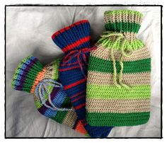 Crochet Hot water bottle cover tutorial