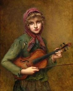 François Martin-Kavel (French 1861-1931) ~ The Young Violin Player