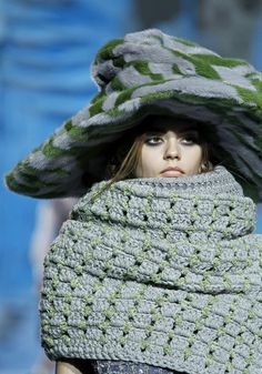 Marc Jacobs FW 2012 2013 - the hat is ridiculous, but I like the wrap.