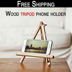 649035ac10a Aliexpress.com: Comprar Envío gratis! madera soporte para teléfono trípode  portátil de madera base de telefonía móvil soporte para el teléfono /  Tablet PC ...