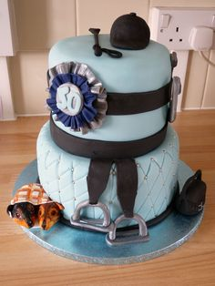 Horse riding themed cake
