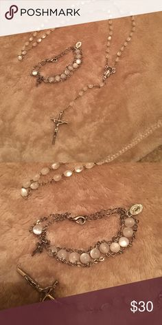 Rosary and bracelet set This beautiful rosary and bracelet are a great gift, perfect for first communion! Jewelry Bracelets