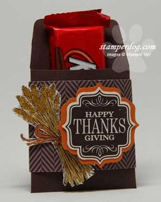 StamperDog | Thanksgiving Table Favor pouch | Here's what they used for this project! Thankful Tablescape Simply Created Kit, Tags 4 You Wood Bundle, Many Marvelous Markers, Big Shot Machine, Envelope Liners Framelits, Sweater Weather DSP Stampin' Up!
