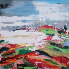 landscape 2  original abstract painting by MothballCharlie on Etsy