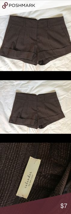 Brown dressy shorts Size M.   Follow me on Insta for OOTDS : NickyRican  Please do not offer trades. P P avail. calender by be cool  Shorts