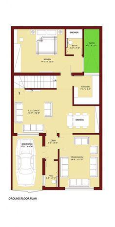 5 Marla House Plan 1200 Sq Ft 25x45 Feet