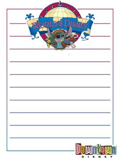 """World of Disney - Stitch - Project Life Disney Journal Card - Scrapbooking ~~~~~~~~~ Size: 3x4"""" @ 300 dpi. This card is **Personal use only - NOT for sale/resale** Logos/clipart belong to Disney."""