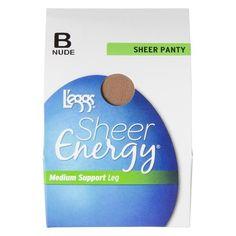 e21231c8540b0 L eggs® Women s Sheer Energy Pantyhose - 60800- Jet Black M  Sheer