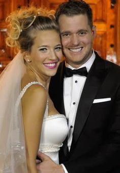Michael Buble married Luisana Lopilato in Argentina on April 2. Following a civil ceremony, the couple celebrated with 300 guests at a private mansion outside of the city. Lopilato wore two wedding dresses by Sylvie Burstin and Marchesa.