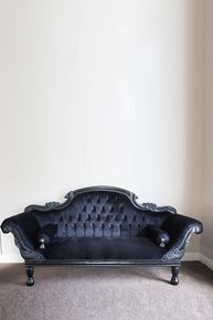 IN STOCK NOW: Colonial Double Ended Chaise Longue - black