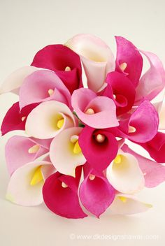 DK Designs: Varying Shades of Pink - A Calla Lily Bouquet