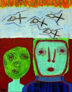 Spring Fever Hoke Outsider Raw Abstract Art Brut Funk Grafitti Original Painting | eBay