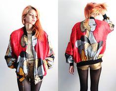 Gdt Too Picasso Vintage Jacket, Forever 21 Gold Shorts