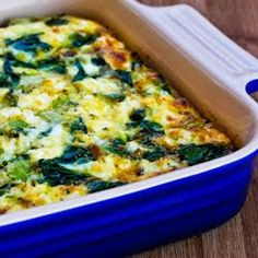 Breakfast Casserole Recipe with Spinach, Leeks, Cottage Cheese, and Goat Cheese | Kalyn's Kitchen®