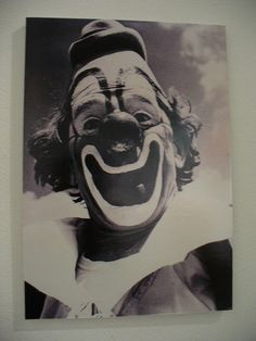 """Vintage circus clown photo of Lou Jacobs"""