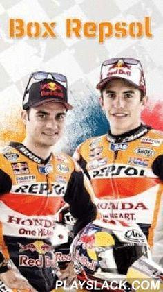 """Box Repsol MotoGP  Android App - playslack.com ,  El Equipo Repsol es el de más tradición en MotoGP, con más de 40 años de presencia en las carreras de motociclismo. Dani Pedrosa y Marc Márquez lideran el equipo de MotoGP. En esta aplicación encontrarás toda la pasión del motociclismo en tu smartphone desde el punto de vista del Equipo Repsol. En la zona """"Mundial"""" podrás consultar las últimas noticias del Equipo REPSOL de MotoGP. Durante la celebración del Campeonato del Mundo de MotoGP…"""