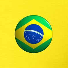 "Country Button Flag ""Brazil"" Men's Heavyweight T-Shirt Classic-cut t-shirt for men, pre-shrunk cotton, Brand: Gildan Brazil Men, Brazil T Shirt, Flags Of The World, Buttons, Country, Logos, Classic, Brazil, World Flags"