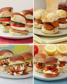 Chicken Sliders For Everyone 4 Ways Try making these four incredible sliders using Tyson Foods Chicken!