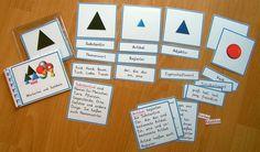 Montessori Wortarten Definitionsmaterial