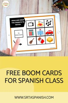 Have you tried BOOM Cards with your students? They're digital and self-checking, which means students get instant feedback, and you don't have to grade! They're self-grading! Your students can read, listen, and write to get practice! This set is perfect for your middle school and high school Spanish classes as they study cognates! It's the perfect activity for homework, review, or even formative assessment! Click to see more and to try it out! Cognates, Middle School Spanish, Spanish Lesson Plans, Formative Assessment, Spanish Classroom, Class Activities, How To Get, How To Plan, Homework