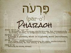 Pharaoh Hebrew  #TorahIsTruth #happyday #ItsAllAboutY'shua