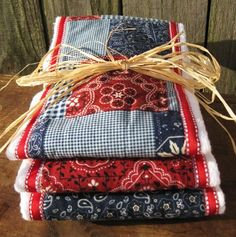 Burp cloths maybe robins new baby?