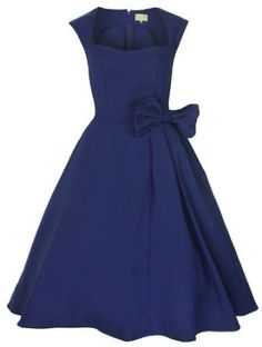 Lindy Bop 'Grace' Classy Vintage 1950's Rockabilly Style Bow Swing Party Dress,